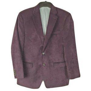 Lauren Ralph Lauren Dark Purple Corduroy Blazer 44